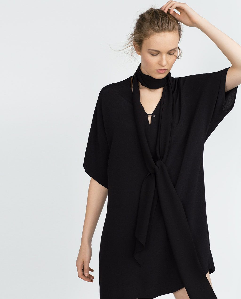 Zara collection aw vneck tunic dresses pinterest tunics