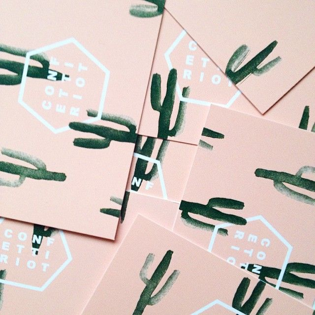 Super cute business cards with watercolor cactus love the colors super cute business cards with watercolor cactus love the colors too colourmoves