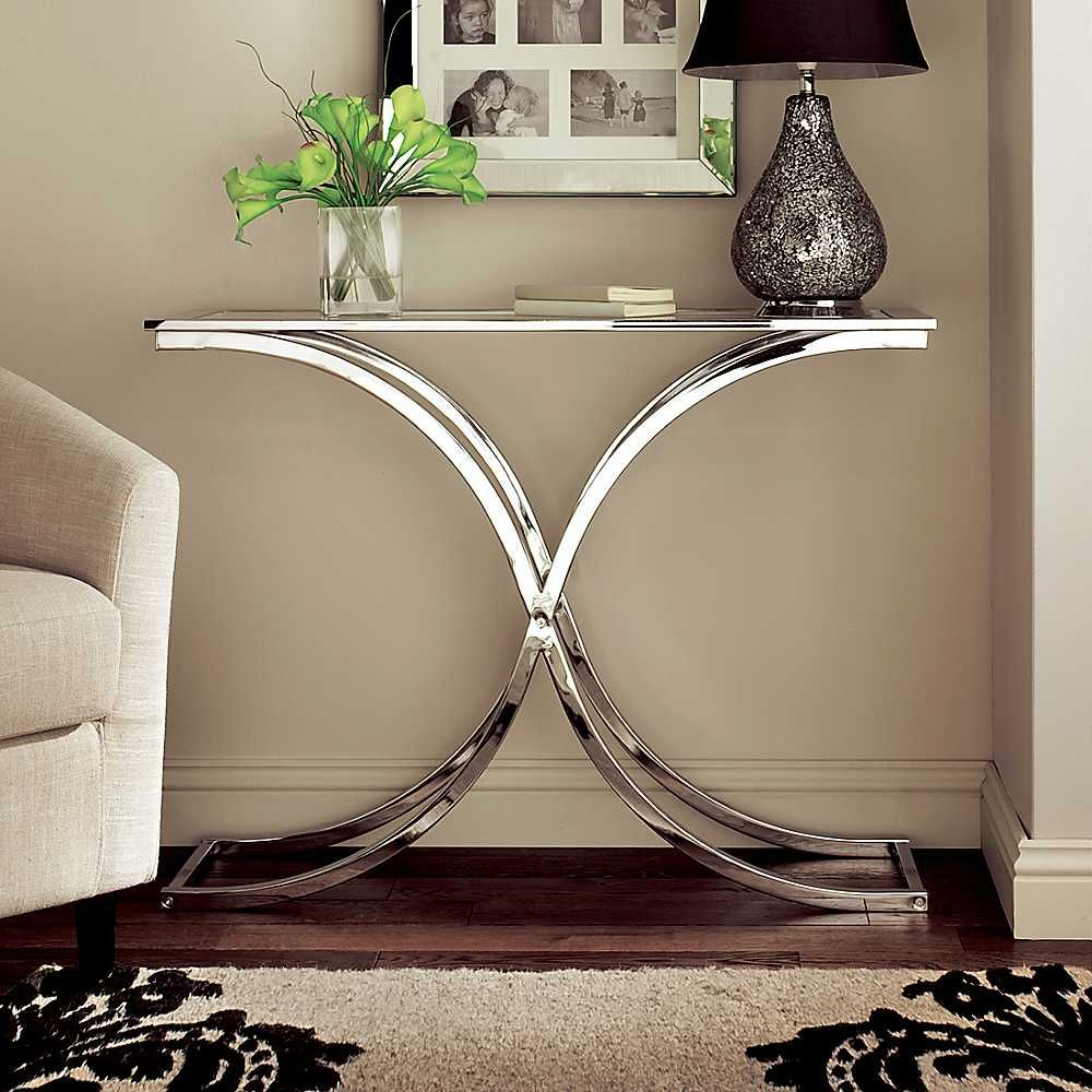 Charmant Image Detail For   Houston Glass U0026 Chrome Console Table   Kaleidoscope    Furniture   Home .