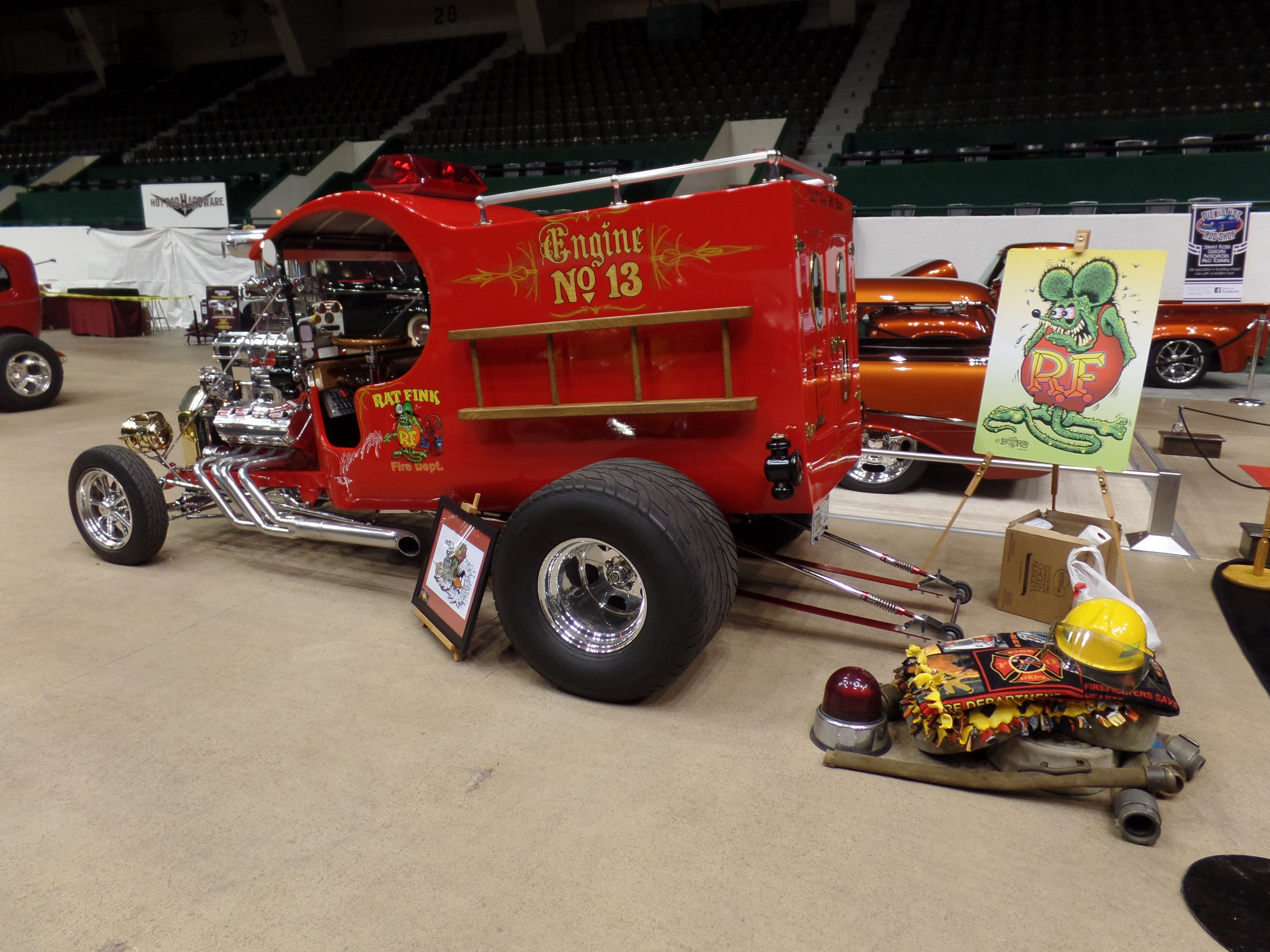 Gsta Car Show 1928 Model T Rat Fink Fire Truck Engine No 13