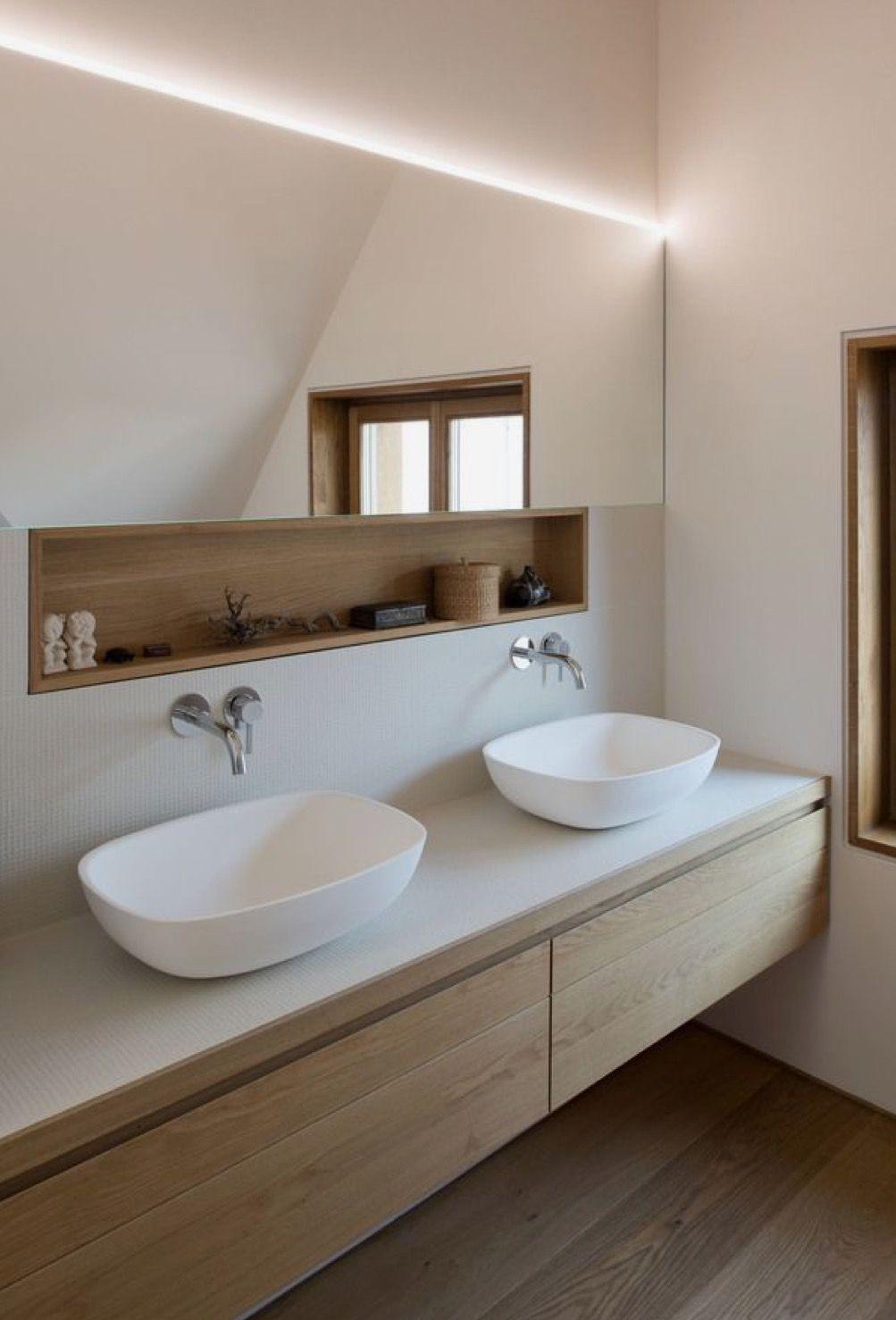 Salle De Bain Avec Bois salle de bains avec niche bois | idée salle de bain, salle