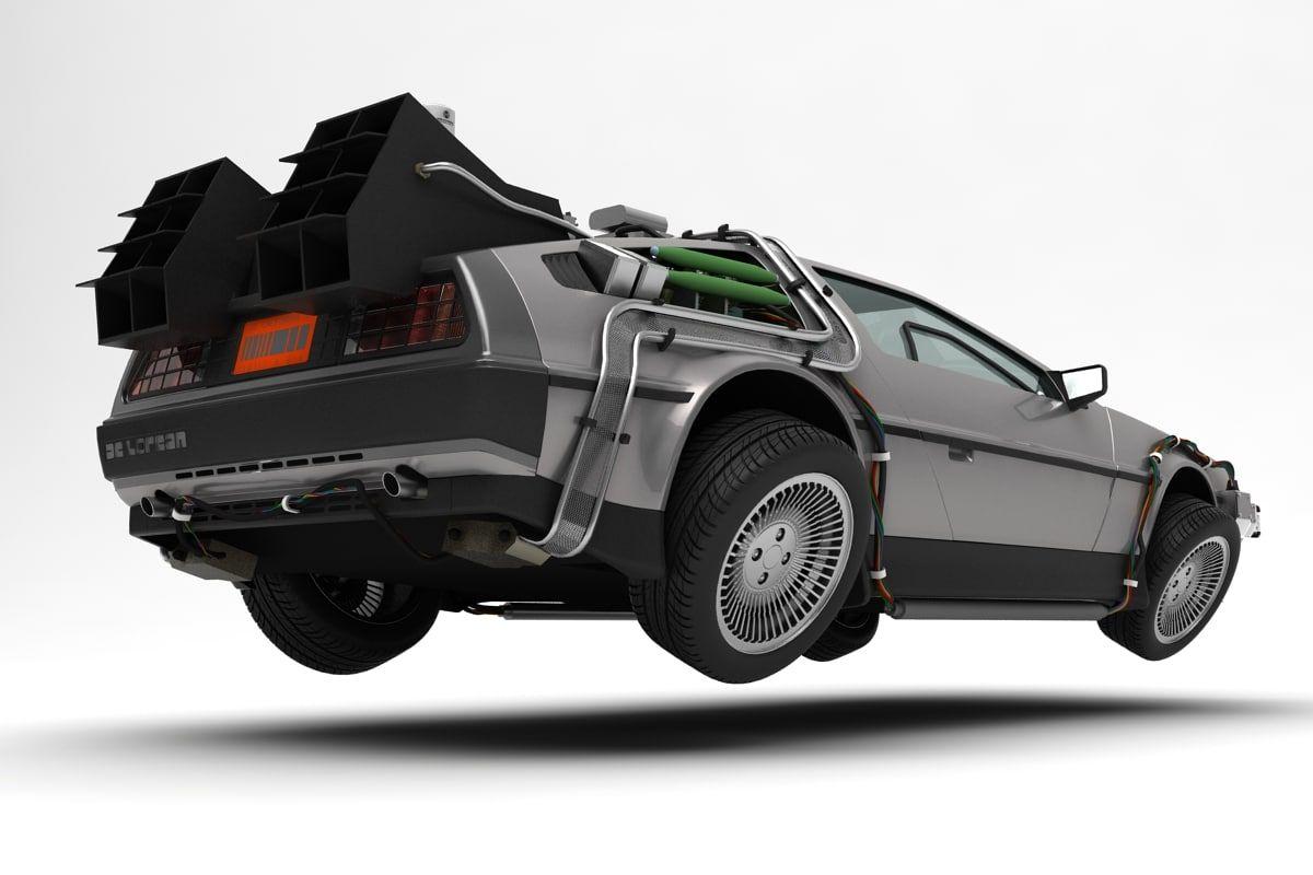3d Model Delorean Time Machine Fantascienza