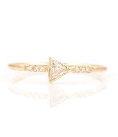 Trillion Diamond Ring