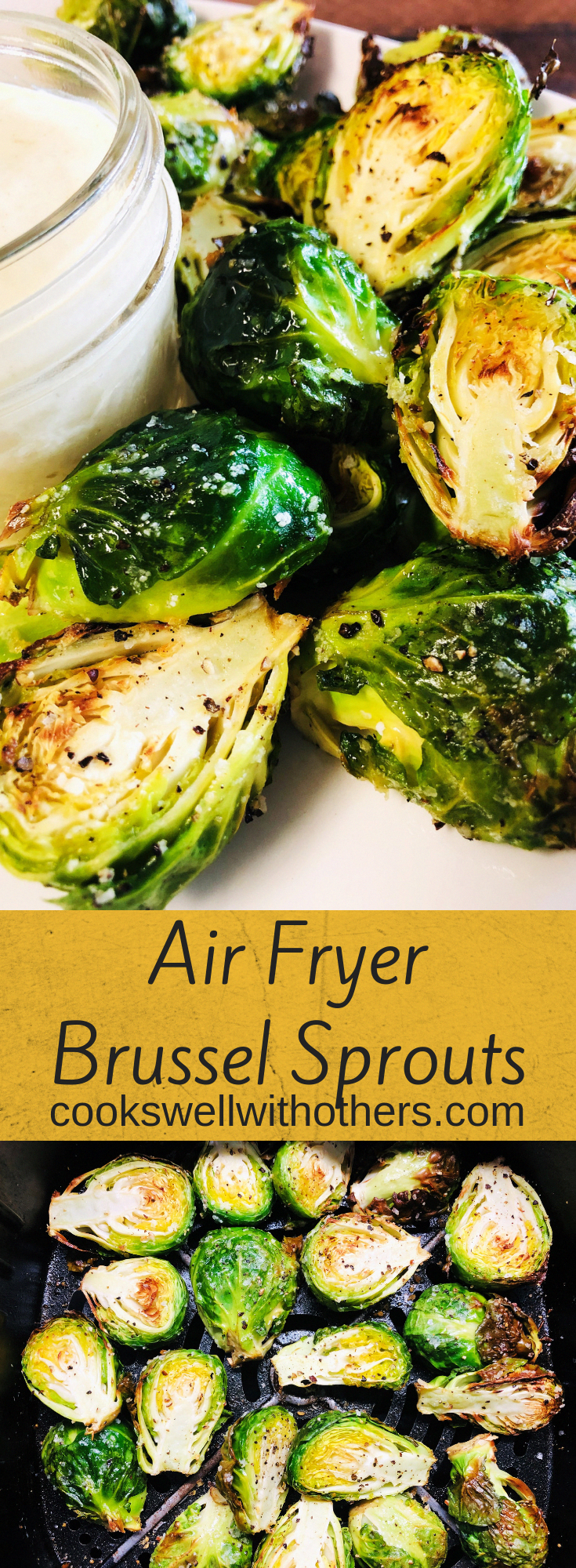 Air Fryer Brussel Sprouts Recipe Food Recipes Air