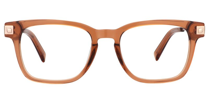 aa5b72a55c7 Zeelool Plastic Glasses Ava Brown Square Eyeglasses Brown Frame 0358 ...