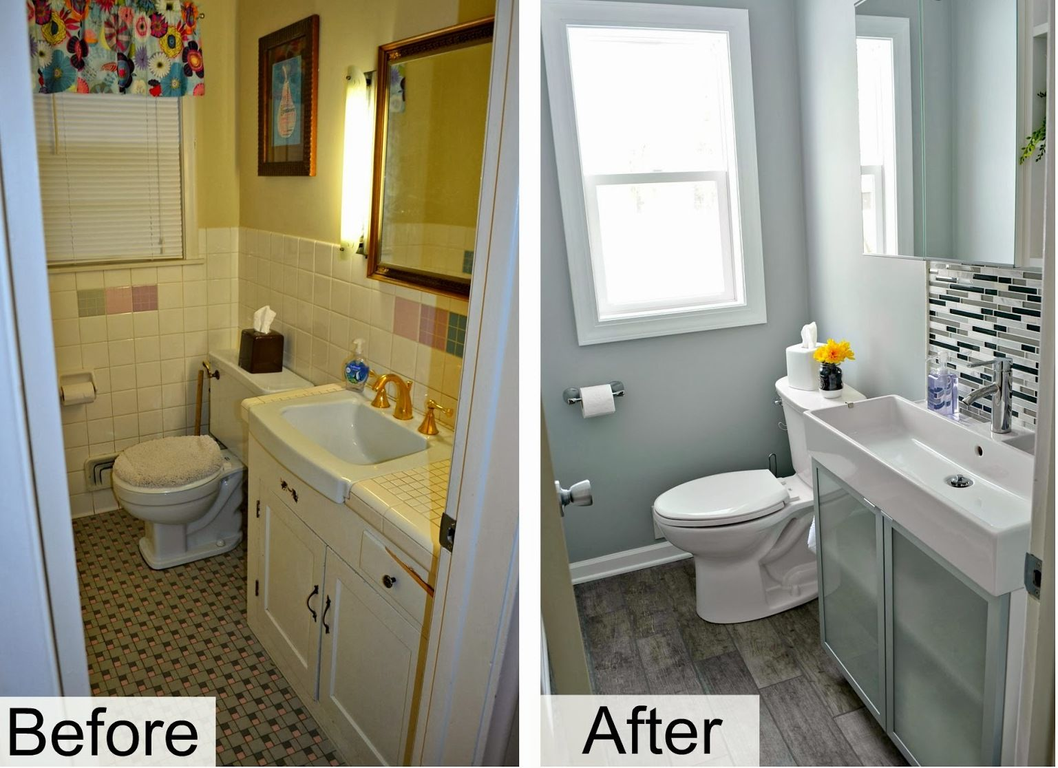 Before And After Diy Bathroom Renovation Ideas Inexpensive