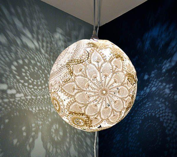 Lace Lamp Doily Art Doilies
