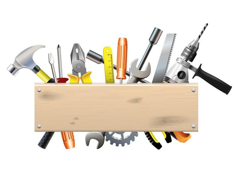 Online Remodeling ToolCartoon Hardware Tools Design