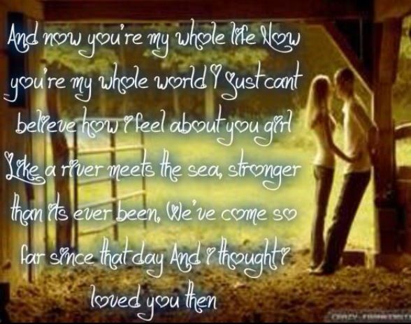 And I Thought I Loved You Then Want This To W T Wedding Song