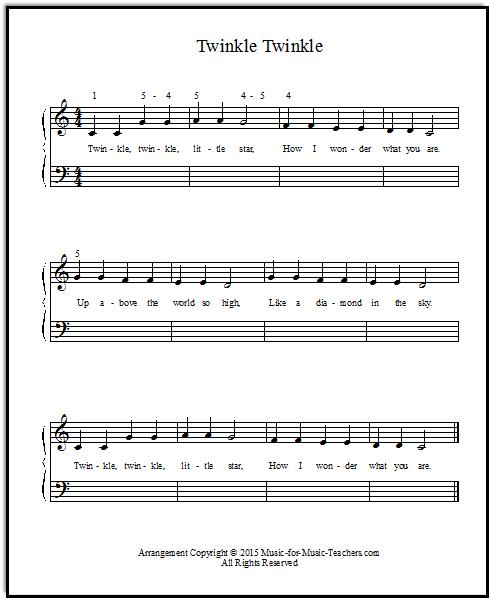 Twinkle Twinkle Little Star Piano Letters : twinkle, little, piano, letters, Twinkle, Little, Sheet, Music, Piano, Music,