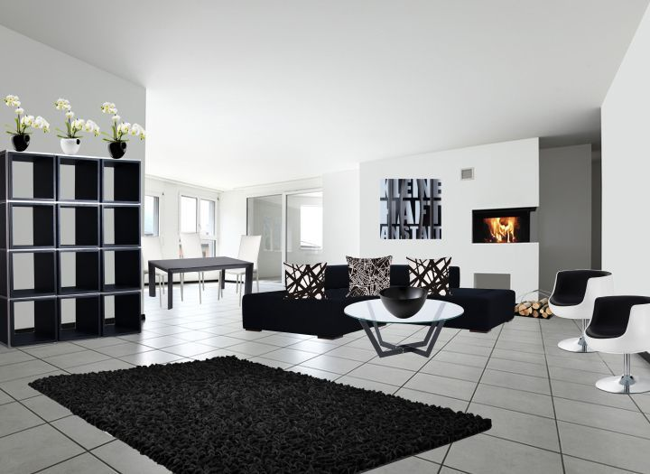 Wohnzimmer Und Esszimmer Kombiniert Ein Schner Grozgiger Raum Klassisch In  Schwarz Wei Mit   Wohnideen Wohnzimmer Awesome Ideas