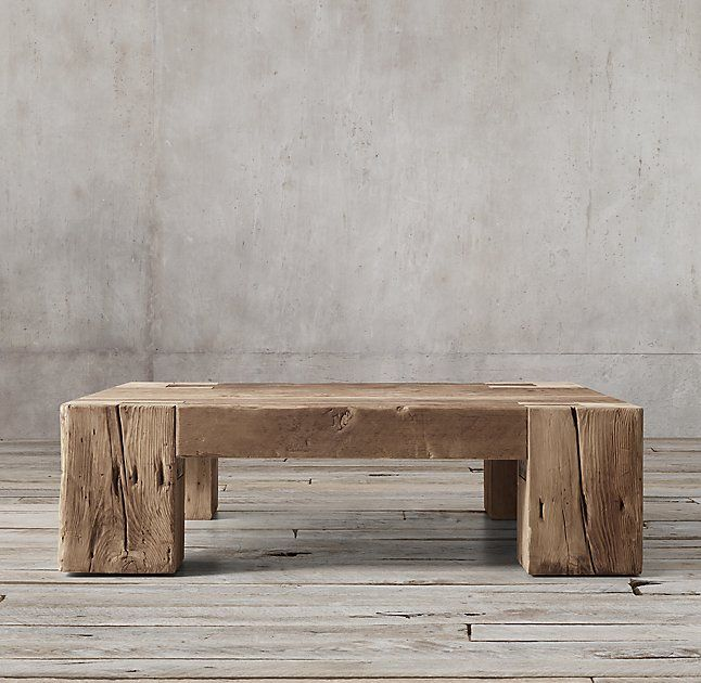 Reclaimed English Beam Square Coffee Table In 2019 The