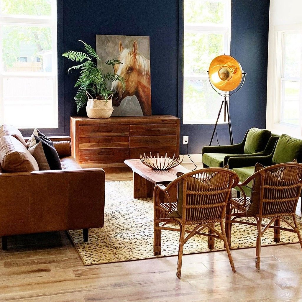 matrix olive green chair  leather sofa living room tan