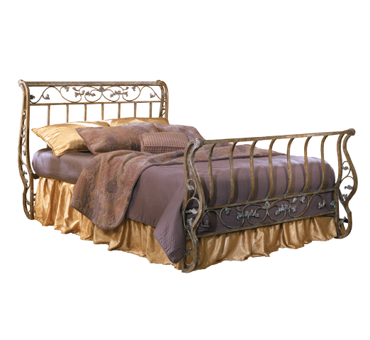 metal sleigh bed Bittersweet Metal Sleigh Bed by Ashley B219