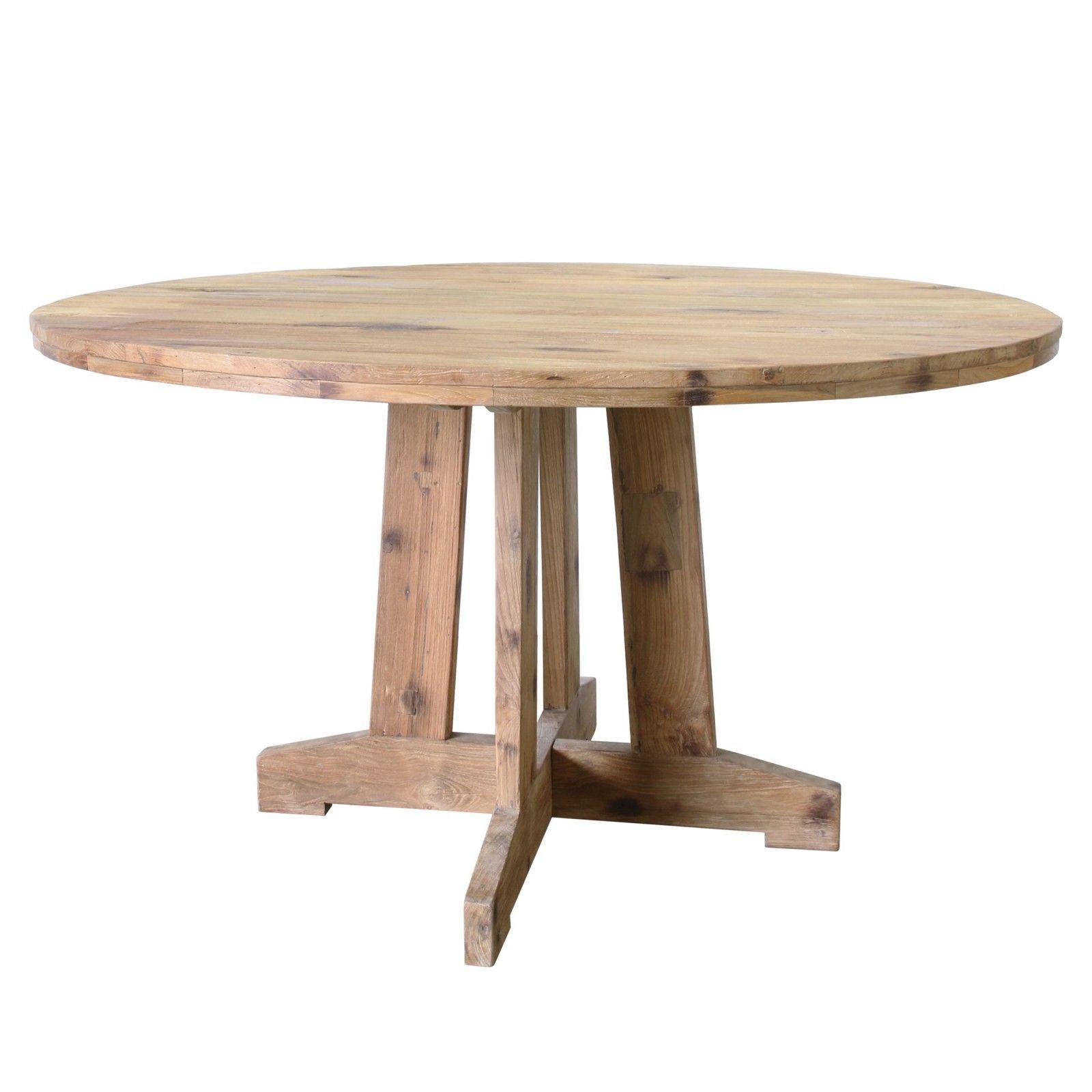 Esstisch aus Teakholz mit einem Durchmesser von 140 cm