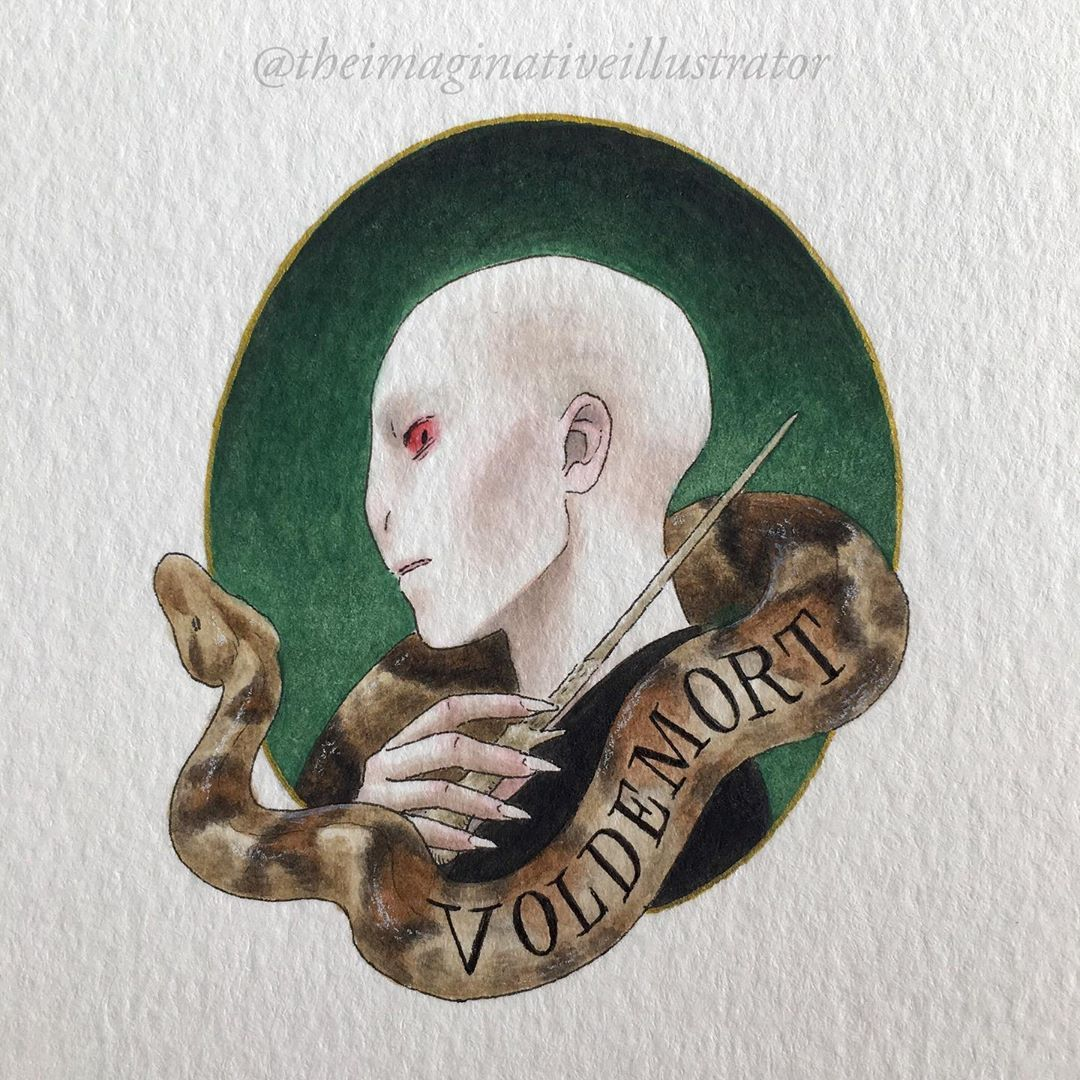 """Melody Howe on Instagram: """"This is probably my favorite Potter portrait out of the whole series  #harrypotter #voldemort #lordvoldemort #potterportraits…"""""""