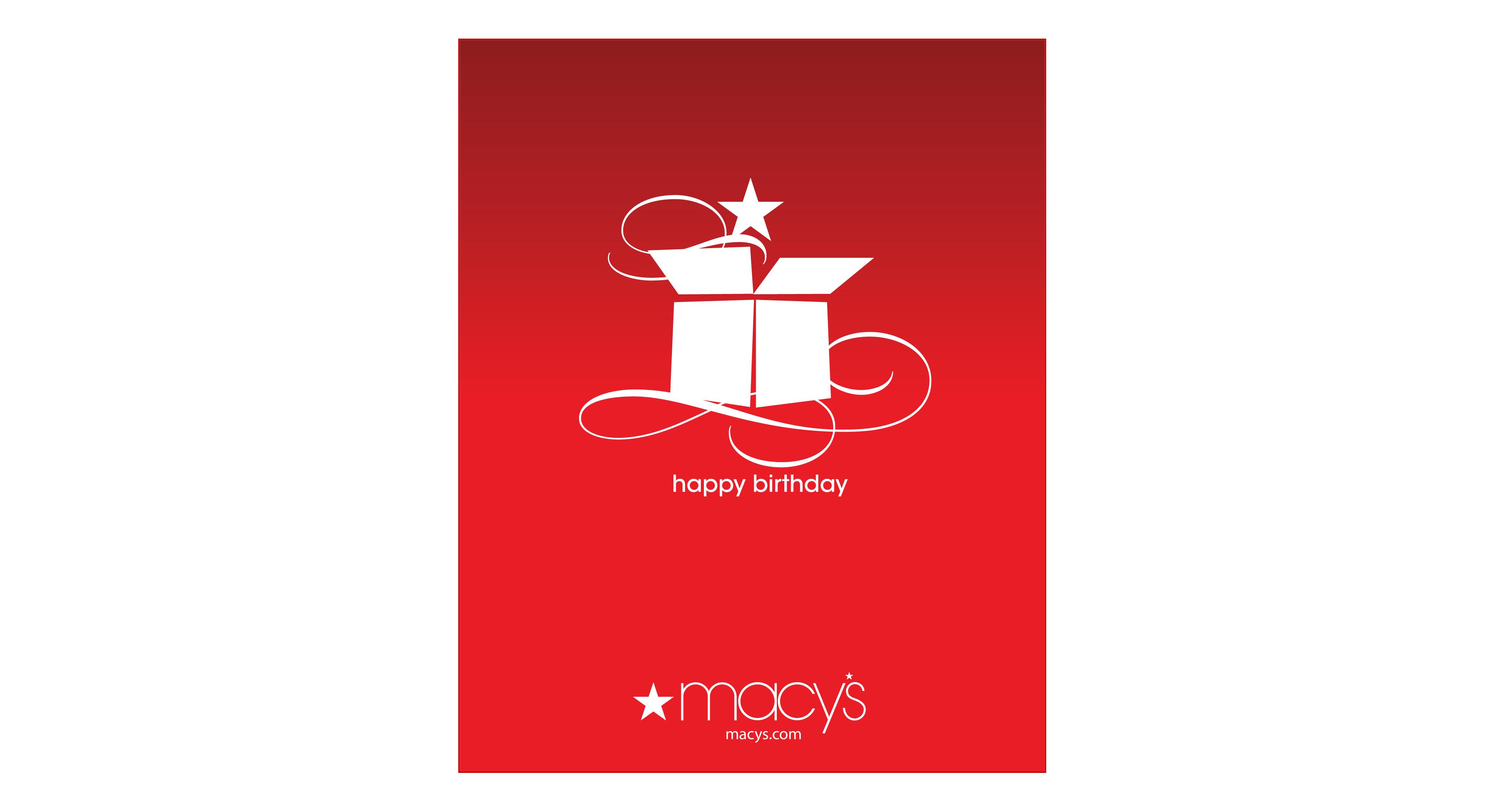 Birthday Present E Gift Card