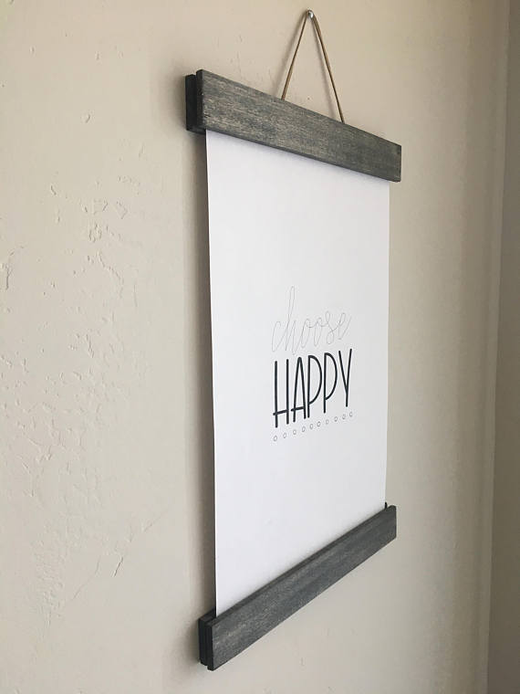 11x14 or 11x17 wooden gray magnetic hanging frame / poster frame ...