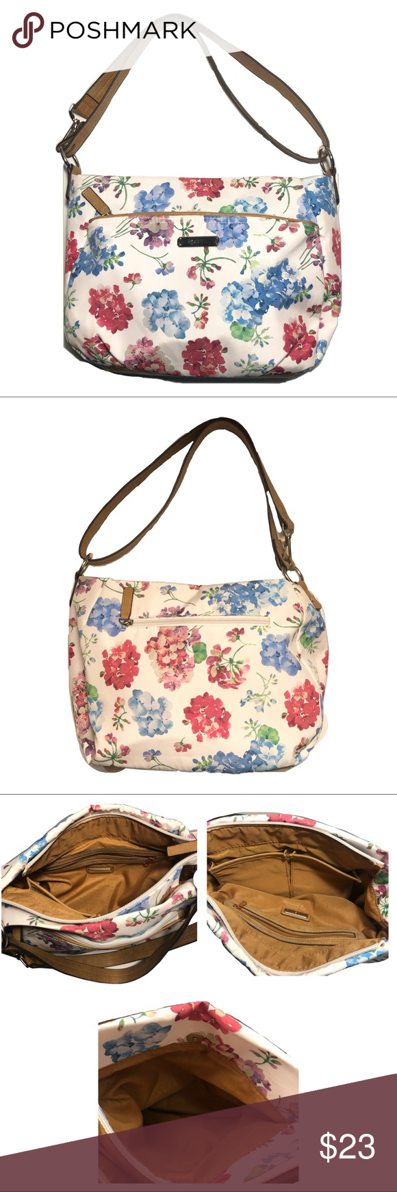 Rosetti Floral Bag Reasonable offers accepted  Rosetti Floral Bag  See pictures for measurements and material Rosetti Bags Shoulder Bags #myposhpicks