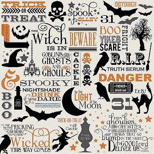 Printable Halloween Scrapbook Paper Halloween Pinterest