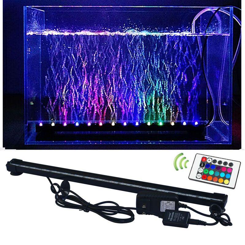 JIAWEN RGB Fish Tank Plant Aquarium Led Light Underwater Bubble Light Lamp  - Black | Led aquarium lighting, Fish tank plants, Fish tank lights
