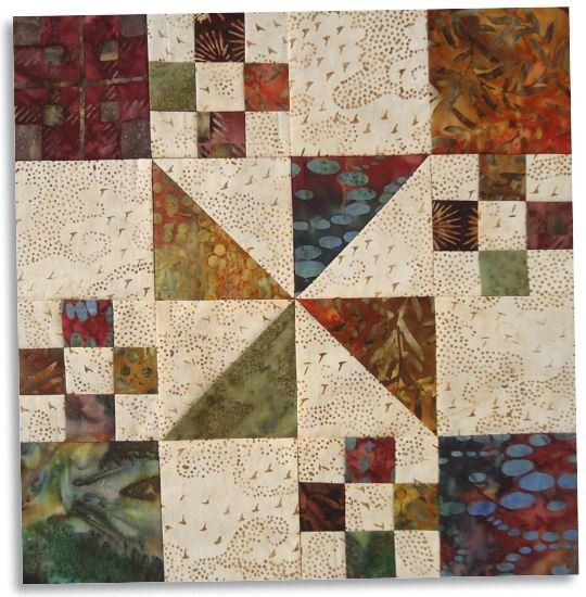 FREE Pattern - Autumn at the White House Block from Eleanor Burns ... : fall quilt patterns free - Adamdwight.com