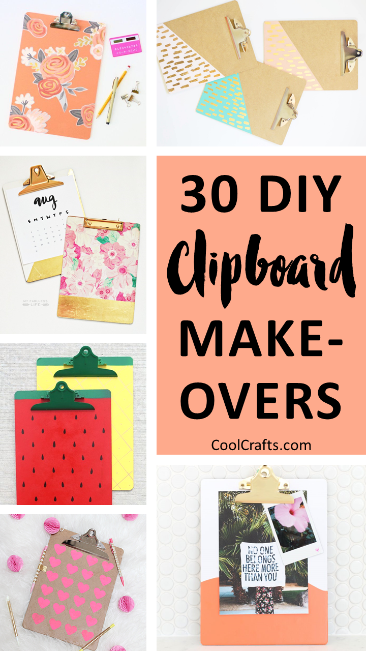 30 Ways To Personalize Clipboards Diy Style Craft Ideas
