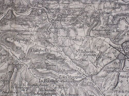 Antique french military map black white paper map 1st quarter 20th antique french military map black white paper map 1st quarter 20th century gumiabroncs Gallery