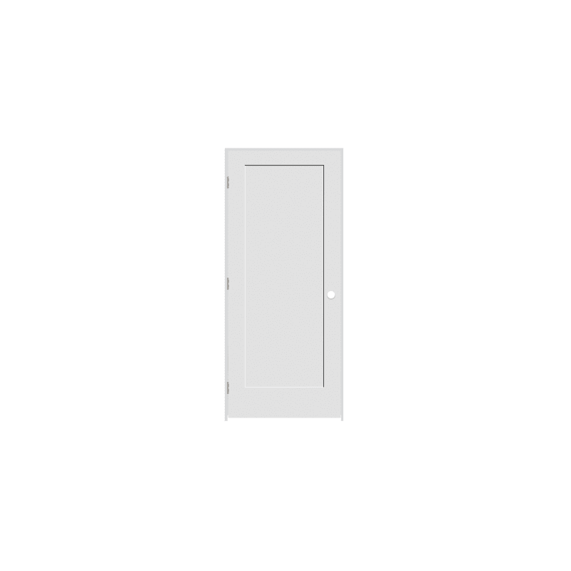 Trimlite 2668134 840120mrh15b714 30 By 80 1 Panel Shaker Right Handed Interior Primed Doors Passage Doors Prehung Door In 2020 Primed Doors Prehung Doors Fire Rated Doors