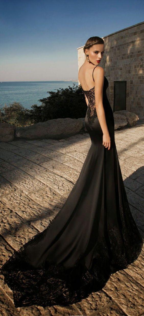 hermosos vestidos negros para novias | alta costura | pinterest