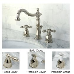 Bathroom Faucet Deals kingston brass polished nickel widespread bathroom faucet