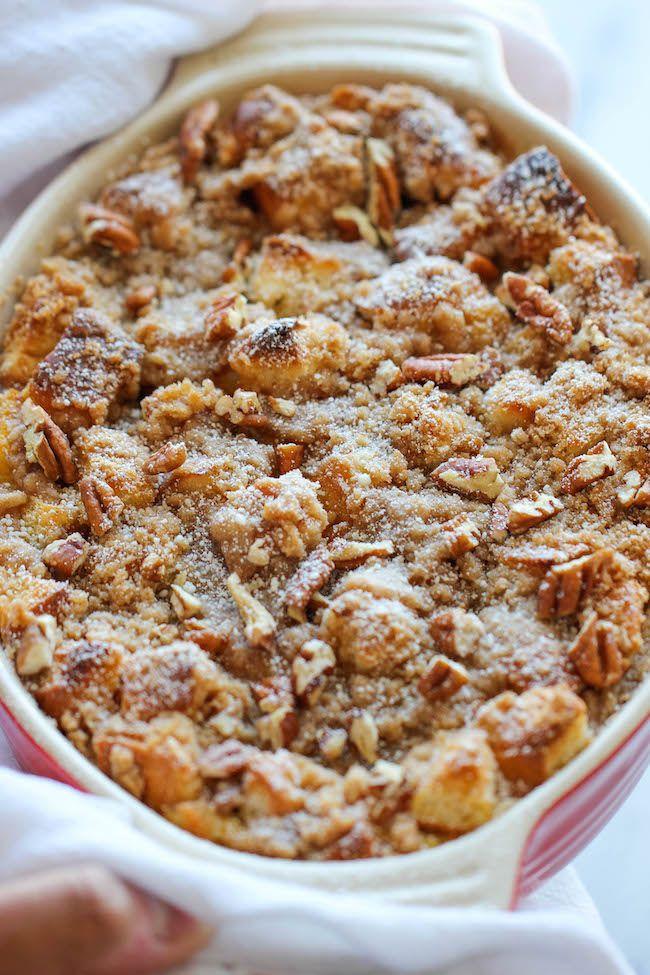 Baked Pumpkin Cream Cheese French Toast | Recipe | Pumpkin ...