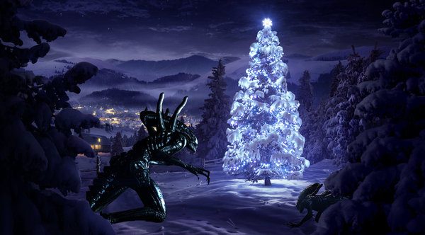 alien christmas | ... too many. However, we can distinguish smaller aliens and bigger ones
