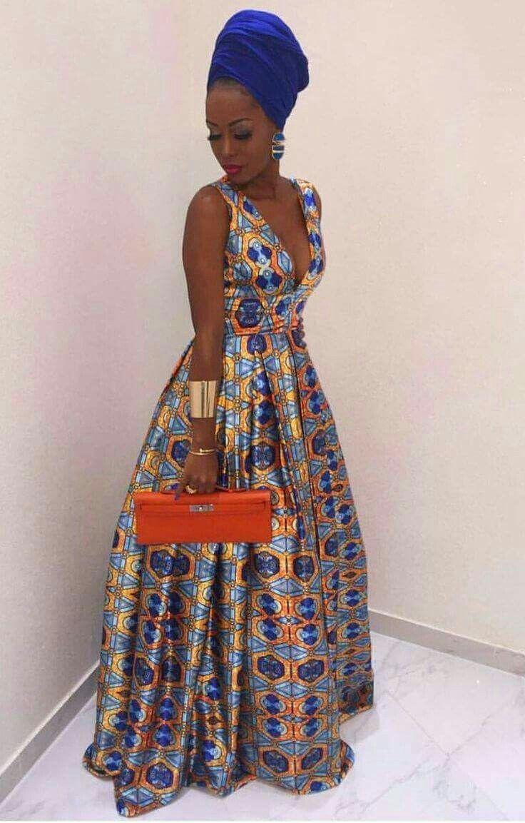 Kaba Nyanga Dkk African Fashion Ankara Kitenge African Women Dresses African Prints