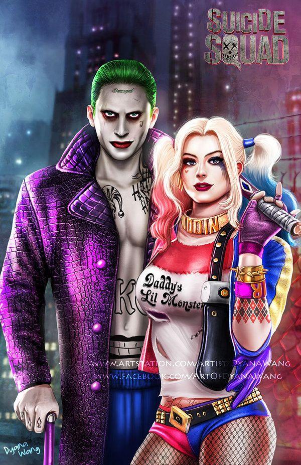 Suicide Squad Large Poster Batman Villains The Joker Harley Quinn Crazy