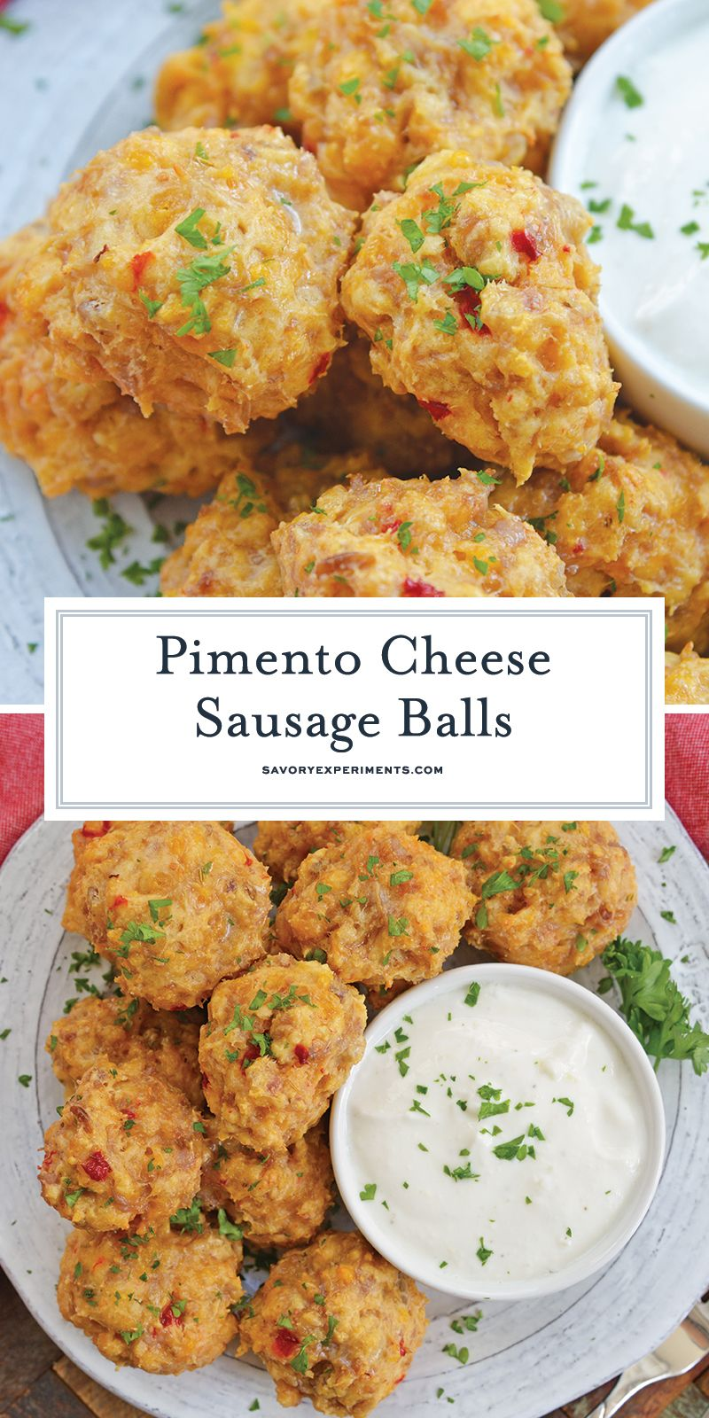 EASY Pimento Cheese Sausage Balls Recipe - BEST Sausage Balls