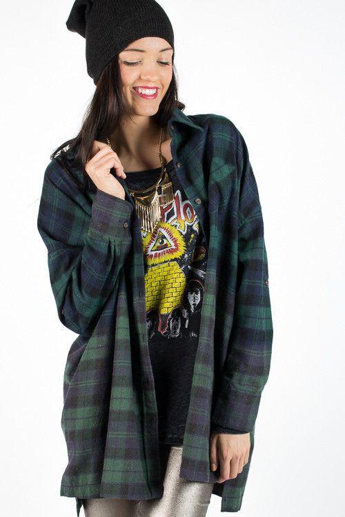Green Boyfriend Flannel