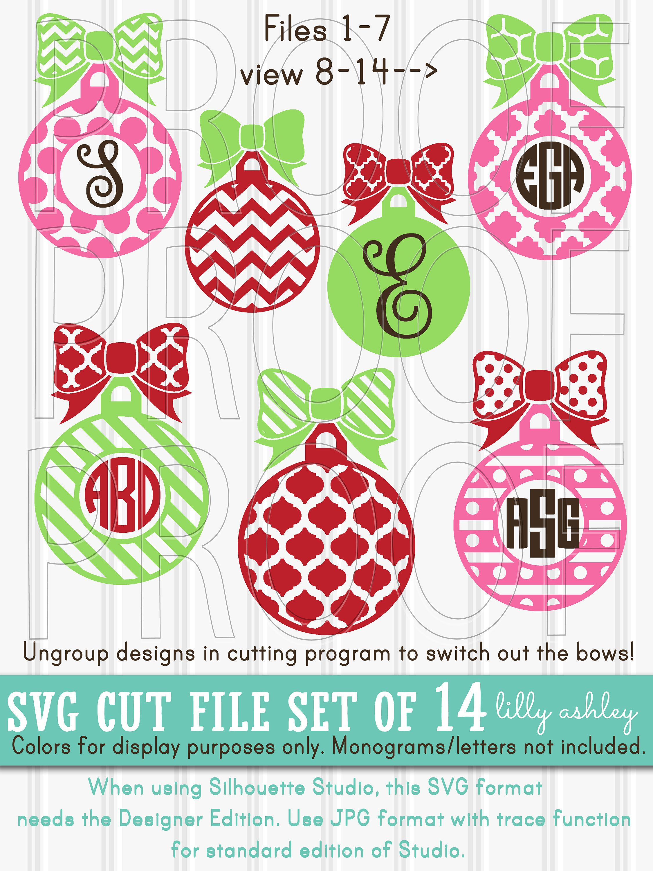 LillyAshley Christmas svg files, Christmas monogram