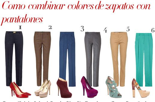 cómo combinar nuestros zapatos según el tono del pantalón – Creando tu  estilo b29bea06d67f