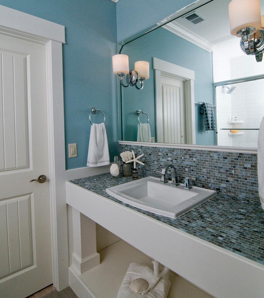 34 Gorgeous Beach Theme Bathroom Decorating Ideas in 2020 ...