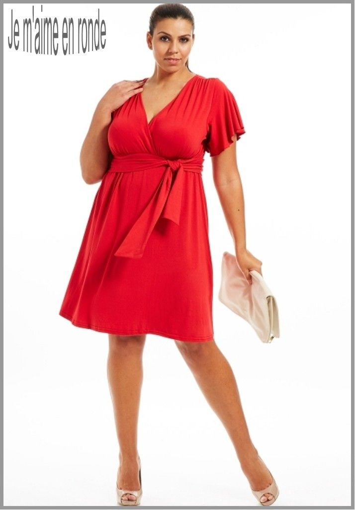 Robe rouge femme grande taille