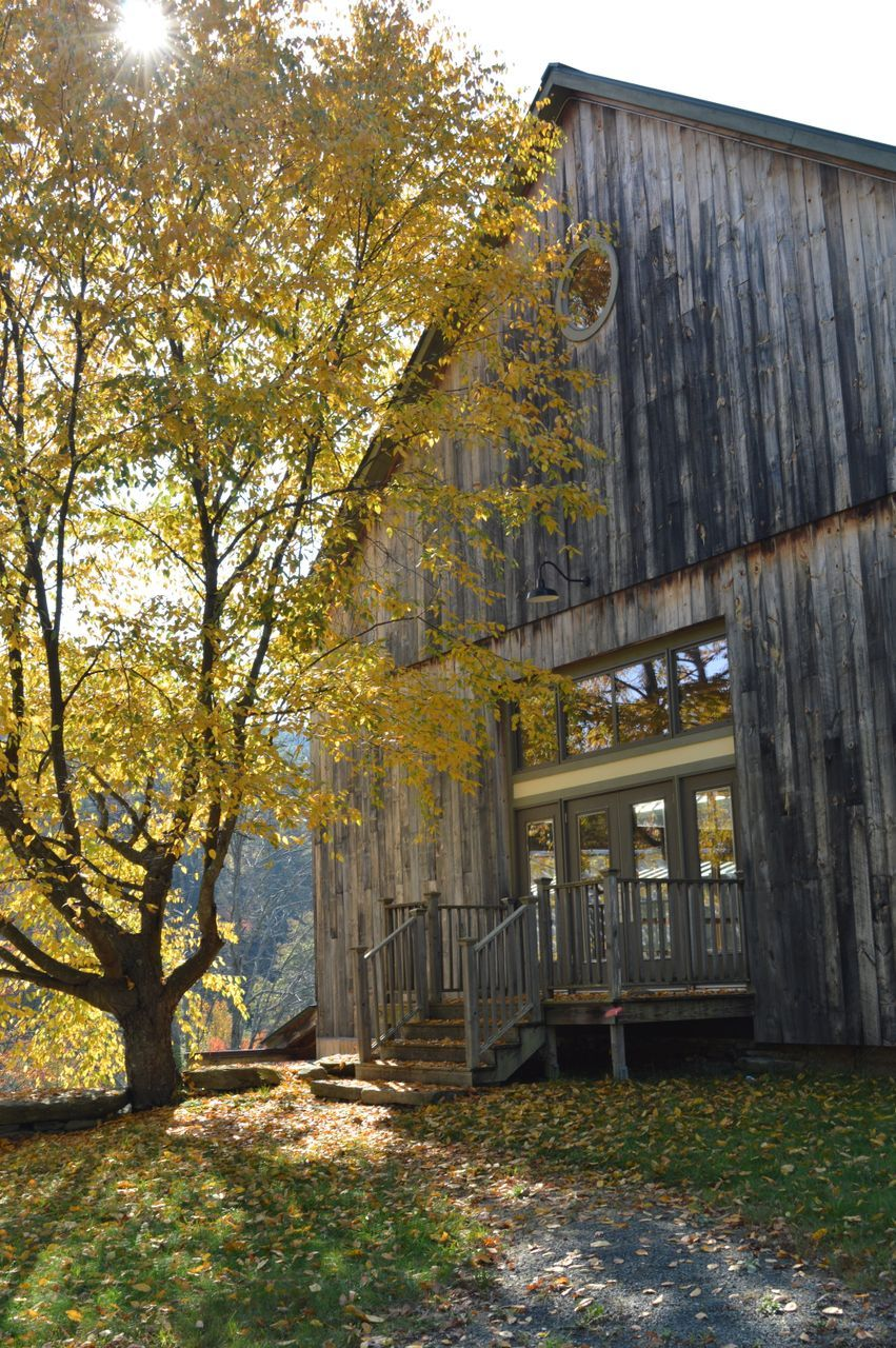 Back entrance to the barn at the Montague Retreat Center. Beautiful ...