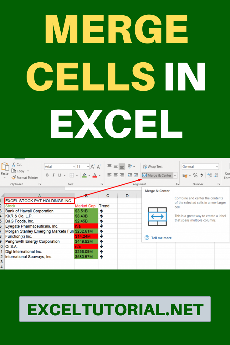 Merge Cells In Excel Excel tutorials, Excel, Cell