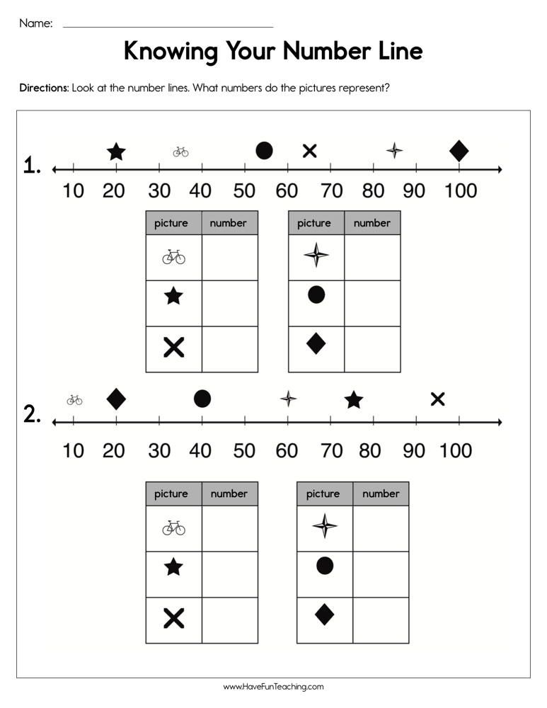 Knowing Your Number Line Worksheet Number Line Have Fun Teaching Skip Counting Worksheets