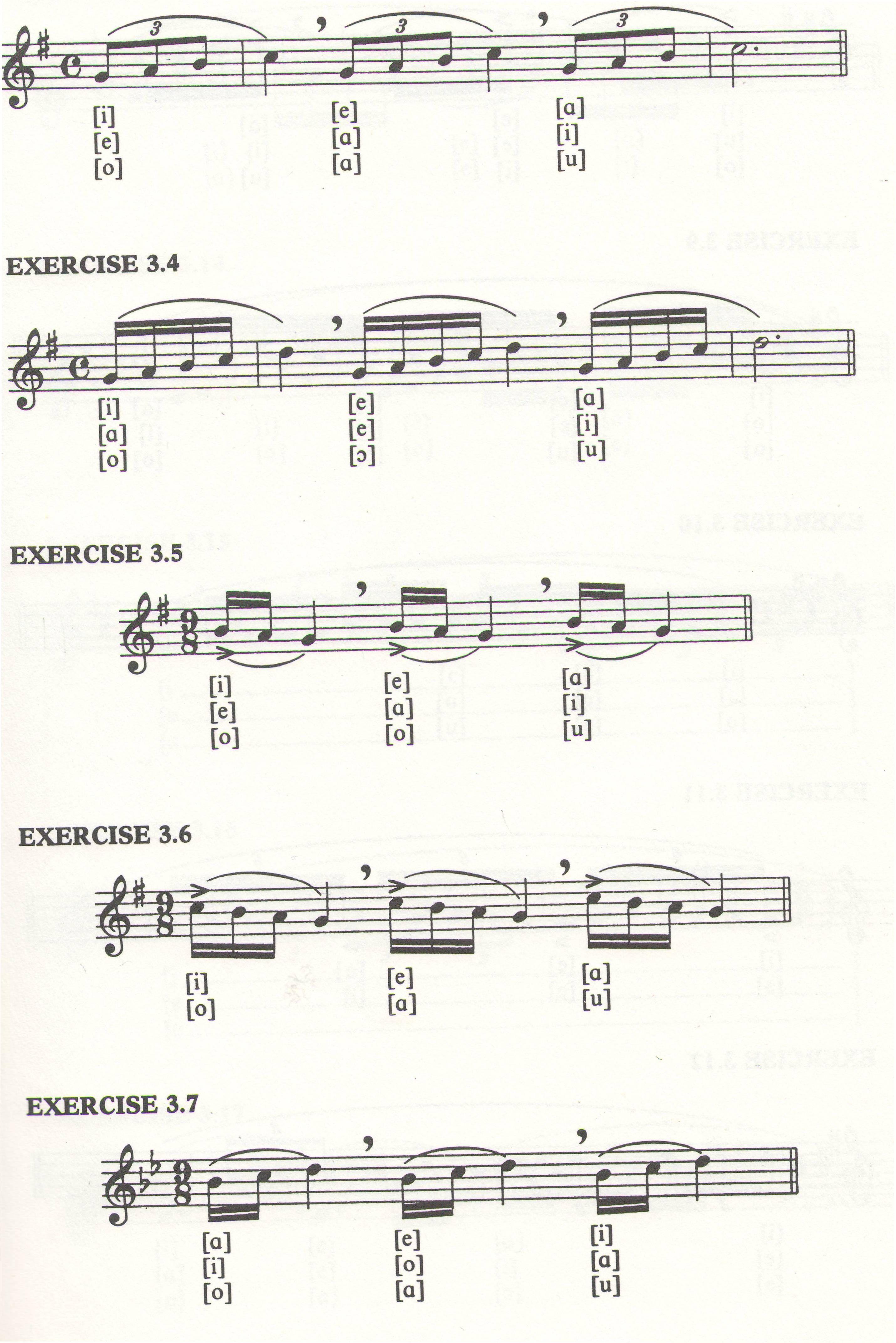 Printable Vocal Warm Ups