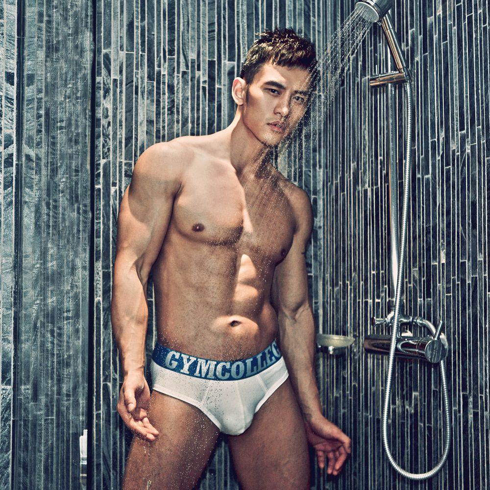 Asian Guy Hot Showering