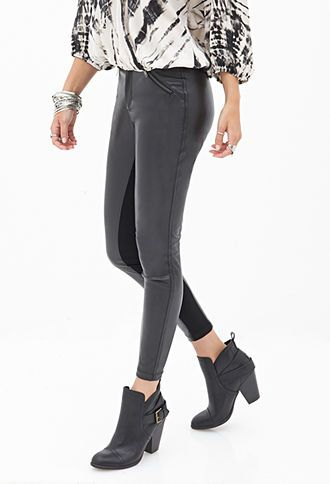 Faux Leather Moto Pants | FOREVER 21 - 2055880045