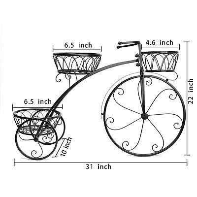 metal plant stand decor high wheeled flower stand pot rack bicycle design ca hierro forjado. Black Bedroom Furniture Sets. Home Design Ideas