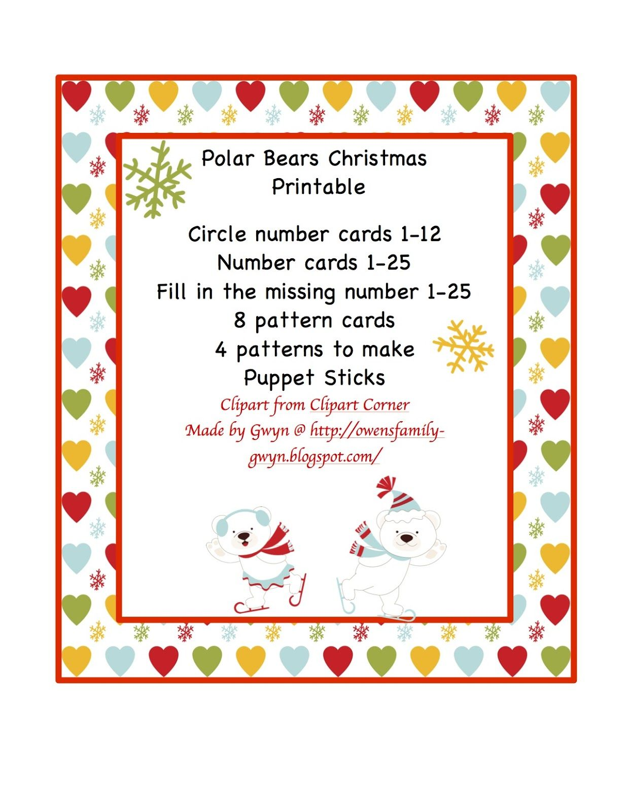 Polar Bear Christmas Printable