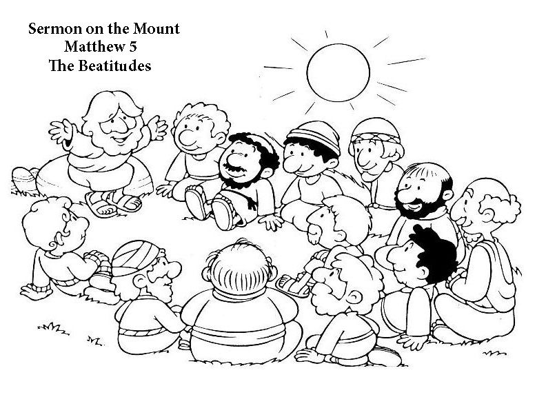 coloring pages beatitudes - photo#30